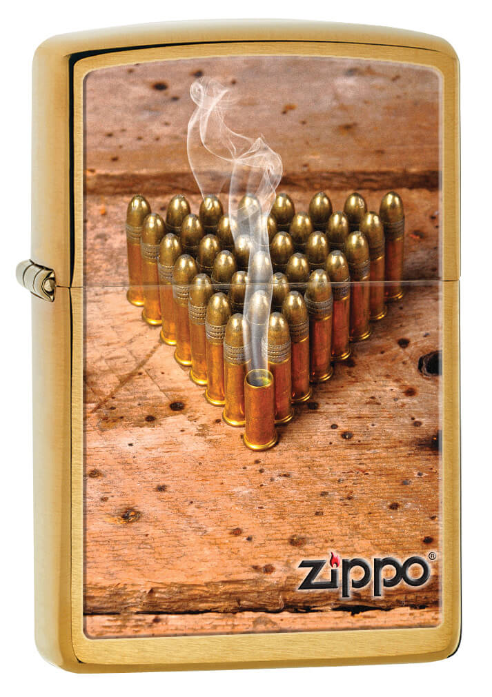 Bullets Brushed Chrome Zippo Lighter
