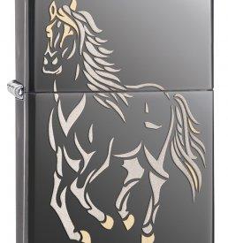 Running Horse High Polished Zippo Lighter