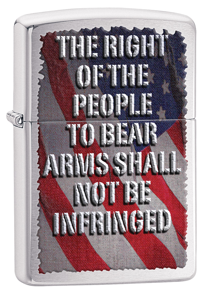 Right Of The People Brushed Chrome Zippo Lighter