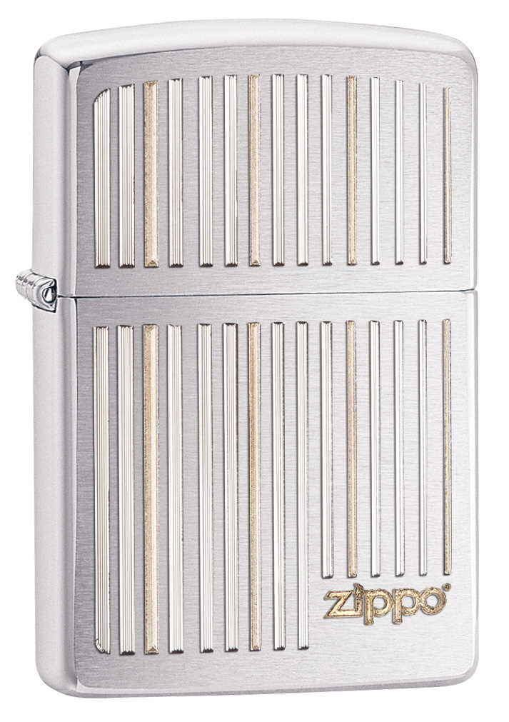 Zippo and Lined High Polished Zippo Lighter