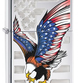 Eagle Flag High Polished Zippo Lighter