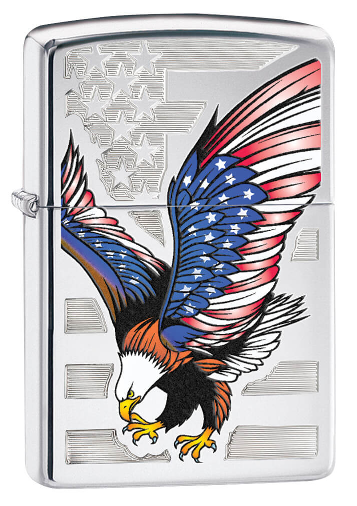 Eagle Flag High Polished Zippo Lighter