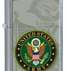Street Chrome Silver U.S. Army Crest Zippo Lighter
