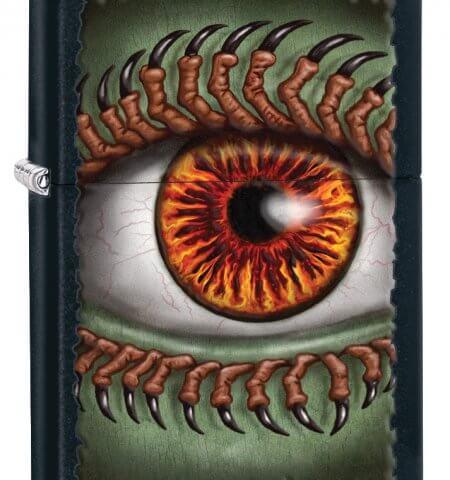 Black Matte Monster Eye Zippo Lighter