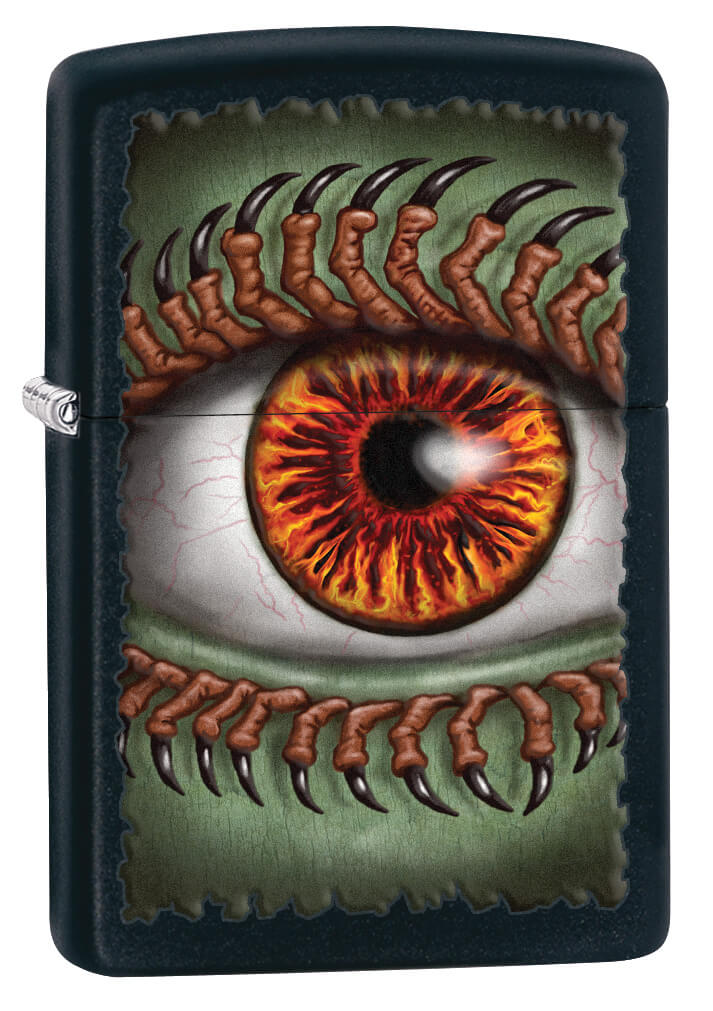 Black Matte Monster Eye Zippo Lighter