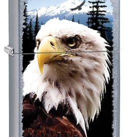 Street Chrome Bald Eagle Zippo Lighter