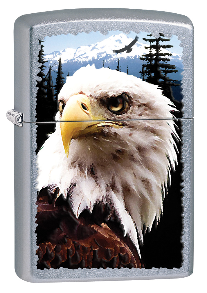 Street Chrome Bald Eagle Zippo Lighter