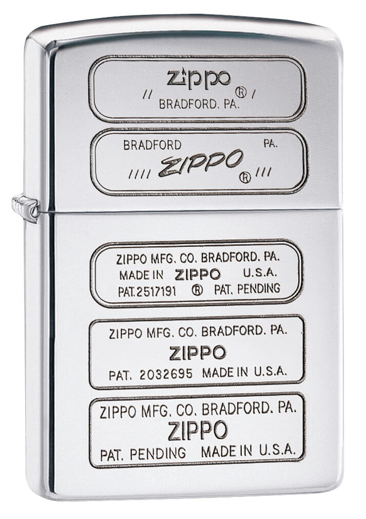 Bottom Stamped Timeline High Polish Chrome Lighter