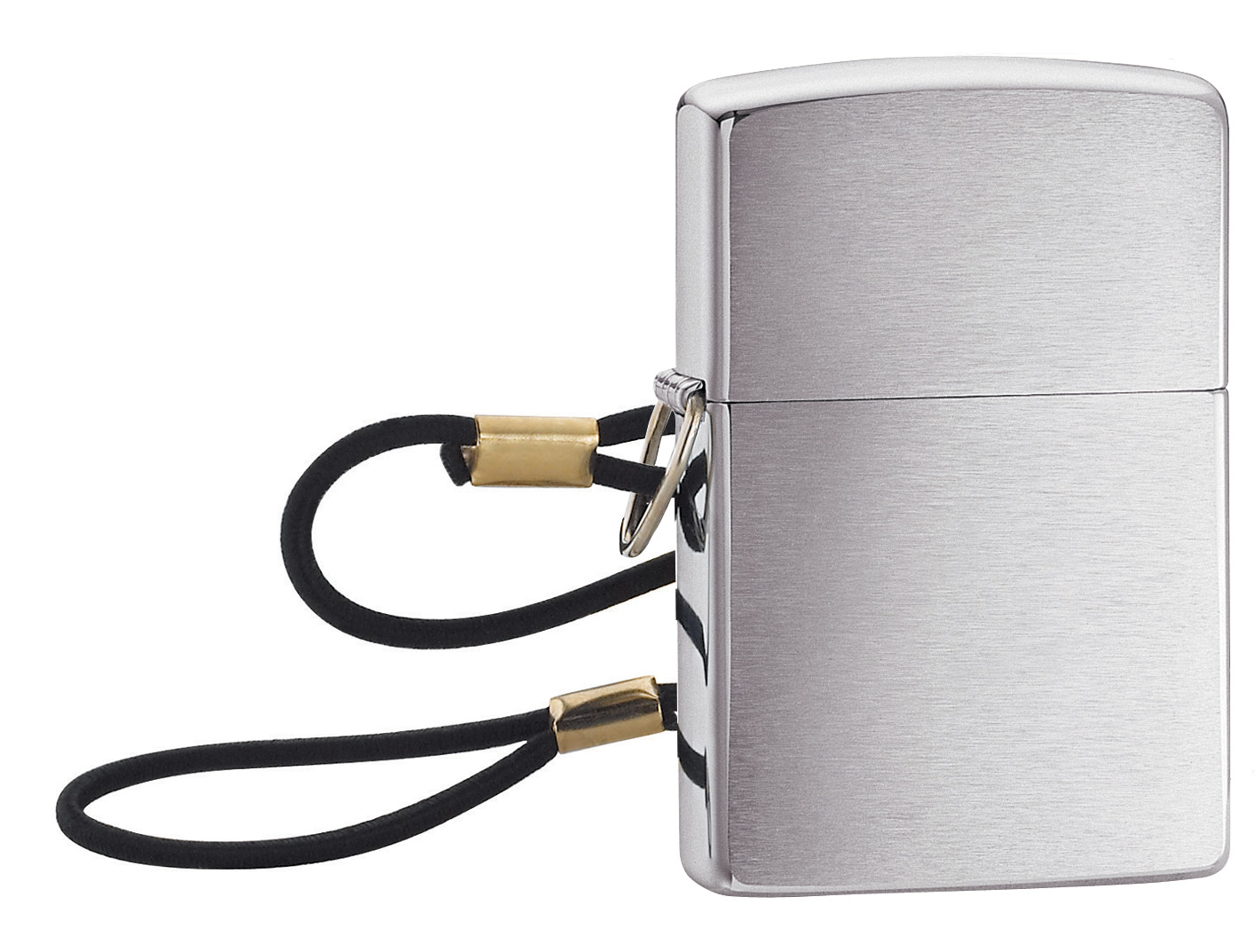 Zippo Loss proof with Loop & Lanyard Brushed Chrome