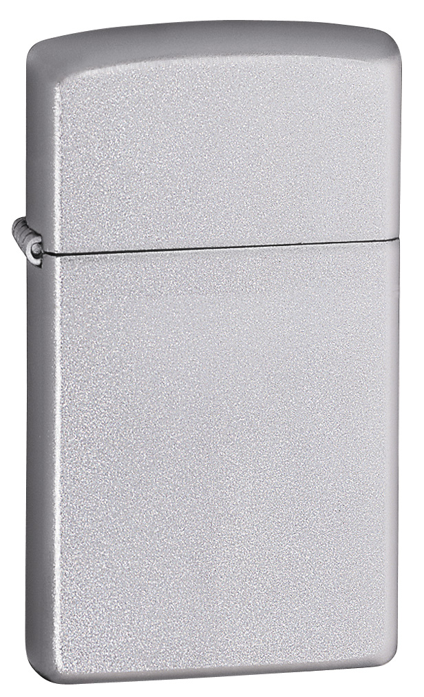 Slim Satin Chrome Zippo Lighter